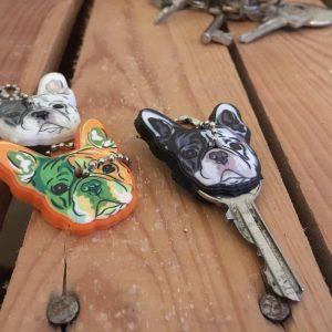 sleutelhoesje, franse bulldog