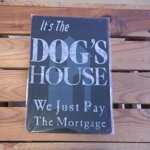 hond, dog, quotes, vintage, bord, muur, decoratie