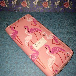 portefeuille flamingo roze