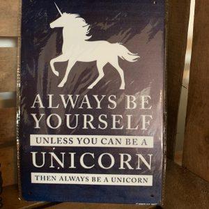 Decoratiebord honden quote unicorn